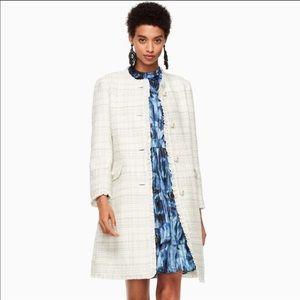 🎉SALE!💥NWT Kate Spade Sparkle Tweed Coat cream